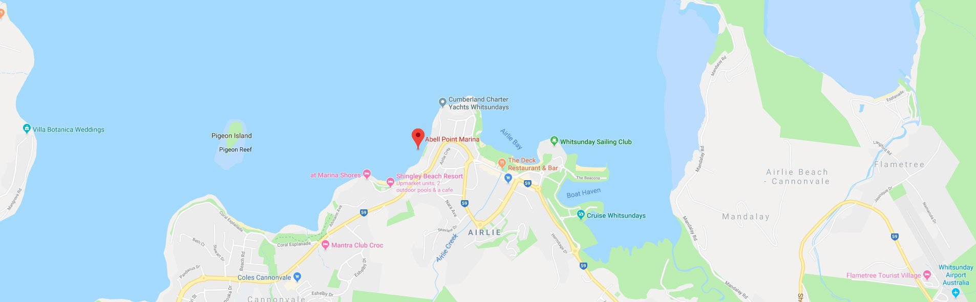 Whitsundays Map - Abell Point Marina